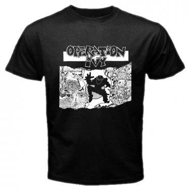 Operation Ivy Logo Punk Rock Band Black T Shirt S to XXXL