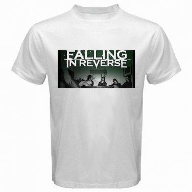 Falling In Reverse Member Photo White T Shirt Emo Punk Rock Band S to XXXL