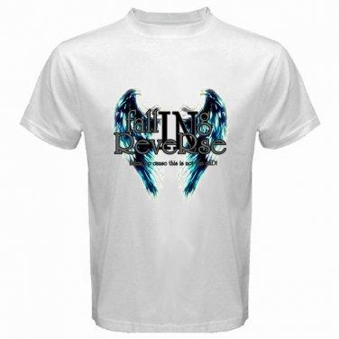 Falling In Reverse Logo White T Shirt Emo Punk Rock Band S to XXXL