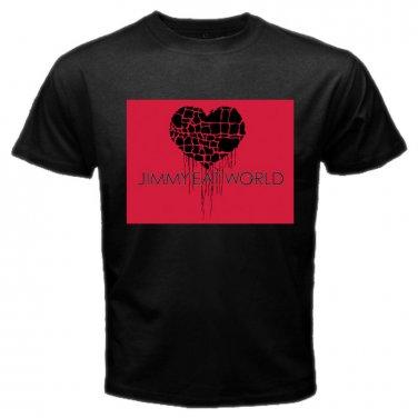 Jimmy Eat World Broken Heart Logo Black T Shirt Emo Punk Rock Band S to XXXL