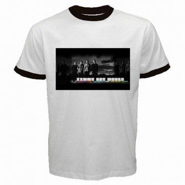 Jimmy Eat World Member White Ringer T Shirt Emo Punk Rock Band S to XXXL