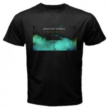 Jimmy Eat World Umbrella Logo Black T Shirt Emo Punk Rock Band S to XXXL