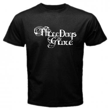 Three Days Grace Logo Black T Shirt Emo Punk Rock Band S to XXXL