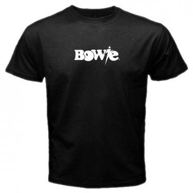 David Bowie Rock Singer Legend  RIP Logo Mens T-Shirt  S to XXXL
