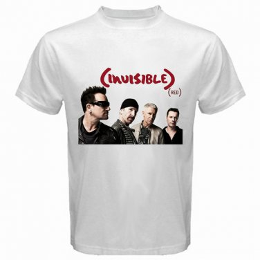 U2 Invisible Red Alternative Hardcore Metal Rock Band Mens T-Shirt  S to XXXL