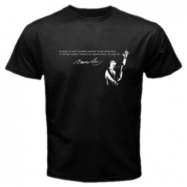 Bruce Lee Quotes The Dragon Martial Arts Legend Movie Star Mens T-Shirt  S to XXXL