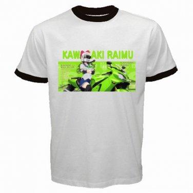 Bakuon Raimu Kawasaki Anime Manga Motorsport Motorbike Japanese Mens T-Shirt  S to XXXL