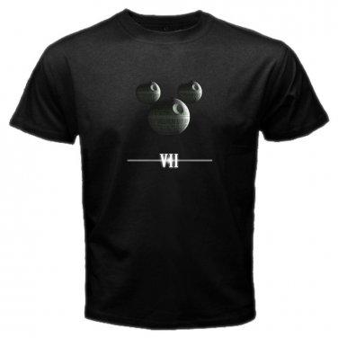Star Wars Logo The Force Awaken Movie Poster Space Jedi Skywalker Mens T-Shirt S to XXXL