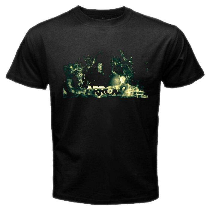 The Arrow DC Comics U.S TV Serial Oliver Queen Super Hero Men T-Shirt S to XXL