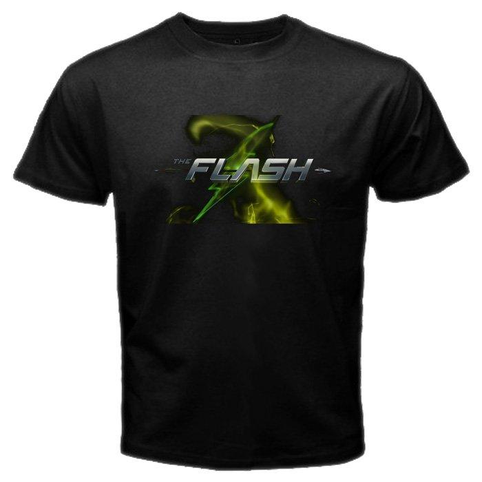 The Arrow VS The Flash Logo DC Comics U.S TV Serial Oliver Queen Super Hero Men T-Shirt S to XXL