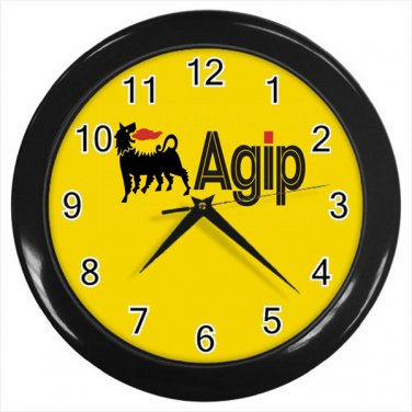 Agip Lubricant Automotive Logo 10 Inch Wall Clock Home Decoration