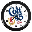 Colt 45 Malt Liquor Logo 10 Inch Wall Clock Home Decoration