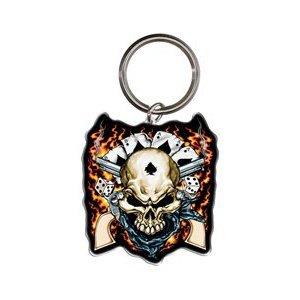 Hot Leathers Cowboy Skull Keychain