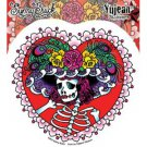 Dan Morris Flower Hat Sugar Skull Decal