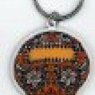Maryann Luera - Orange Sugar Skull - Metal Keychain