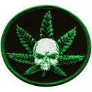 Skull Pot Leaf Patch