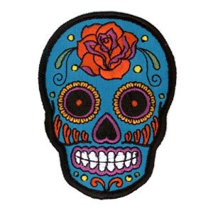 Sugar Skull Blue Patch