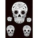 White sugar Skull stickers