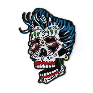 Sunny Buick - Rocker Sugar Skull - Embroidered Patch