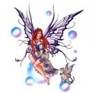 Nene Thomas - Rainbow Cat Fairy With Long Red Hair Sitting On A Bubble - Sticker / Decal