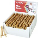 "100 PIECES REEVES MINI RANGE SMALL Countertop Wooden 5""x3"" EASEL Stands ONE BOX"
