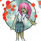 Spooky Zombie Kids - cassandra - Zombie Girl STICKE Art by Frank Wiedemann  NEW