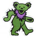 ART BY GDP Inc GRATEFUL DEAD DANCING BEAR PATCH - GREEN EMBROIDERED IRON ON NEW