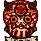 "MARYANN LUERA - EL DIABLO SUGAR SKULL - EMBROIDERED IRON-ON PATCH SZ:2.5"" X 3.5"""
