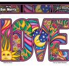 DAN MORRIS - LOVE - LETTER STICKER WITH SUN, MOON, STARS, BUTTERFLY DIE-CUT *NEW