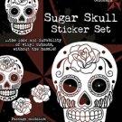SUNNY BUICK WHITE SUGAR SKULL STICKER SET TATTOO DAY OF THE DEAD STICKER SET NEW