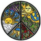 """DAN MORRIS  PEACE SIGN PATCH EMBROIDERED IRON - ON PATCH SIZE: 3.5"""" X 3.5""""  NEW"""