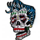 SUNNY BUICK COOL ROCKER SUGAR SKULL PATCH DAY OF THE DEAD IRON ON PATCH * NEW *