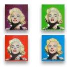 4 x Variation MARILYN MONROE Portraits Stretch Canvas Print & Painted, EACH: 9X8