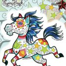 SUNNY BUICK CANDY HORSE STICKER ADORABLE TATTOO PONY PRINTED ON CLEAR BACKING