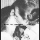 *Sealed With A Kiss*  8X10 Black & White Photo