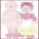 VTG Raggedy Beloved Belindy Cloth Doll Pattern