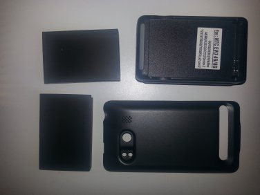 3500mAh Extended Battery Black Cover + Dock Charger for Sprint HTC EVO 4G New
