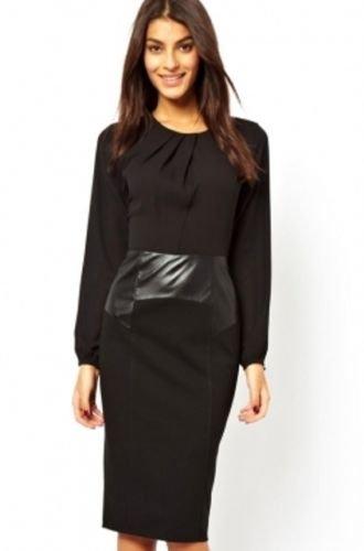 Vintage Inspired Black Pencil Dress