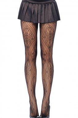 Black Lace Pattern Pantyhose