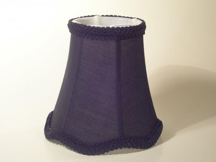 "4"" Black Silk - Bell Chandelier Shade w/ Scalloped Edge"