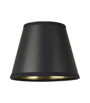"4"" Black Parchment - Empire Hard Back - Lamp Shade w/ Gold Lining"