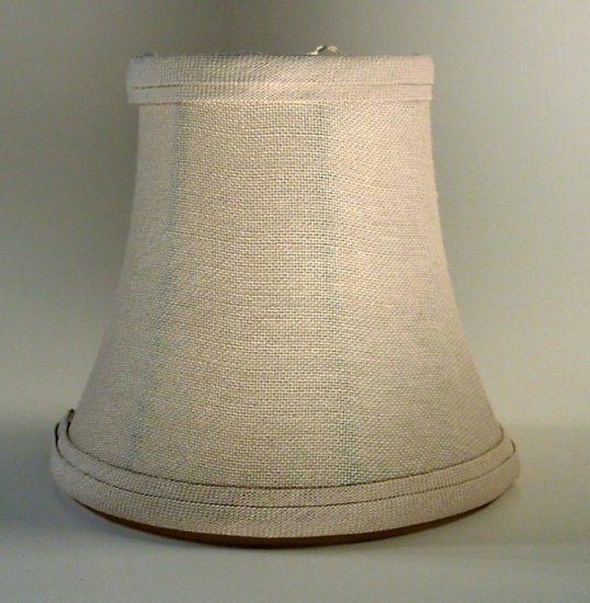 "5"" Natural Linen - Bell Chandelier Shade"