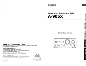 Onkyo A9070 A-9070 Operating Guide User Instructions