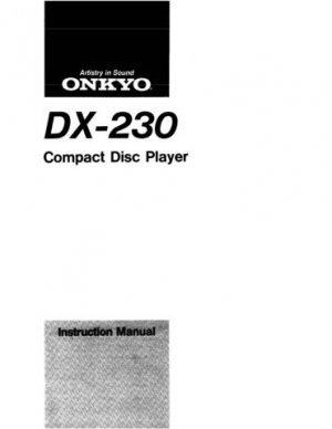 Onkyo DX5500 DX-5500 Operating Guide User Instructions