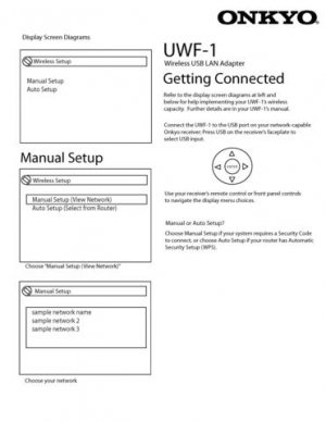 Onkyo UWF1 UW-F1 Operating Guide User Instructions