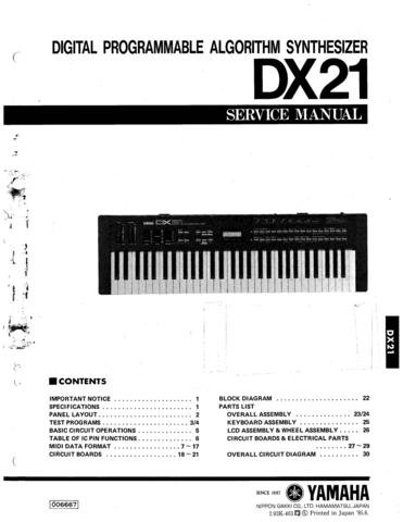 Yamaha dx27 dx 27 service manual for Yamaha ysp 5600 manual