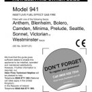 Wonderfire Camden 941 Install and Operating Guide