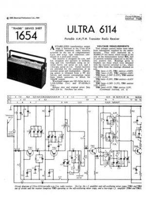 Ultra 6114 Radio Repair Schematics etc