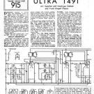 Ultra T491 T-491 Vintage Wireless Repair Schematics etc