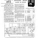 Ekco B38 B-38Technical Repair Schematics etc